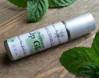 Organic Peppermint Lip Gloss, Organic Lip Gloss, Vegan Lip Gloss, Clear Lip Gloss, Natural Lip Gloss, Lip Moisturizer, Gluten Free