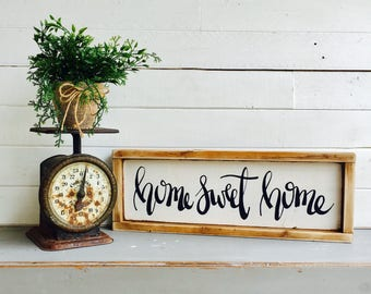Home Sweet Home |  Medium Rustic Sign | Home Decor | Mantle Sign | Gallery Wall