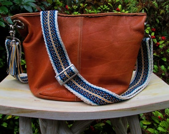 Handwoven Guitar Strap Style -Handbag Strap, Two Inches Wide, One of a Kind , Great for a Large Handbag or Messenger Bag
