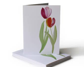Spring Tulips Just Because Greeting Card