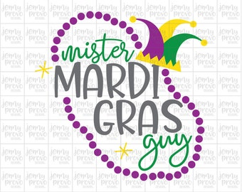 Mister Mardi Gras Guy - Cutting File in SVG, EPS, PNG and Jpeg for Cricut & Silhouette