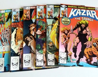 Marvel Comics KAZAR the Savage #1 #2 #4 #5 #6 #7