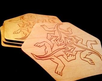 M.C. Escher Lizards Coaster Set of 4