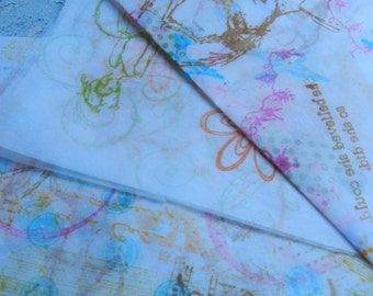 Hand Stamped Tissue Paper - BRIGHT