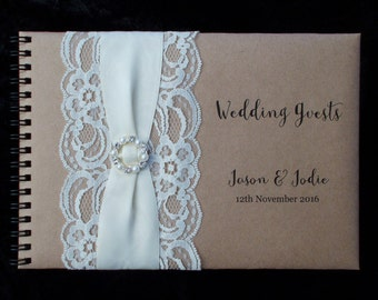 A5 Personalised Guest Book Vintage Lace