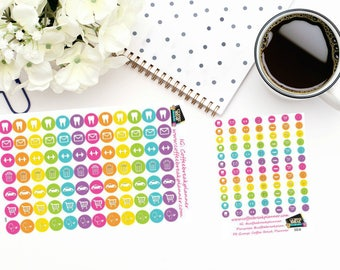 Planner Stickers|Errands and Appointments Stickers| Icon Dot Stickers|For use with planners and journals|2 sizes available|I002 I002M