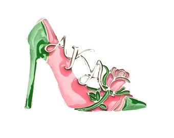 Alpha Kappa Alpha Sorority High Heel Shoe Brooch Pin/AKA217