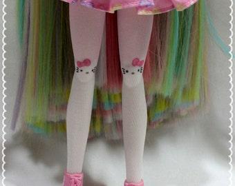 Kawaii Hello Kitty Pink Socks for Dolls!