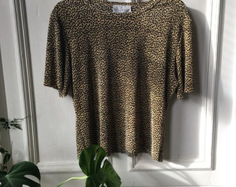 1980s Leopard Print Shirt