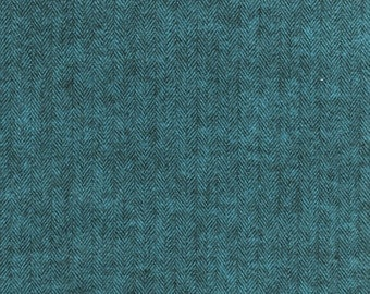 Shetland Flannel OCEAN from Robert Kaufman - 1/2 Yard