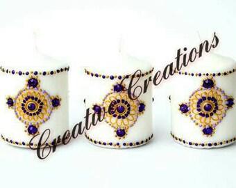 Heena candles set of 3