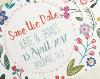 Custom Save the Date, Floral Save the Date, Printable Save the Date, Download Save the Date Invitation, PDF Invitations, Digital Invitation