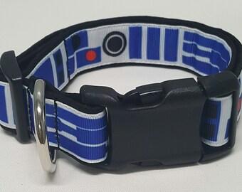 dog collar, r2d2, star wars, star wars dog collar, star wars collar, r2d2 dog collar, r2d2 collar, return of the jedi, empire strikes back