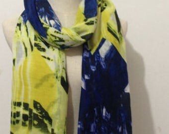 Yellow and Blue Tassel