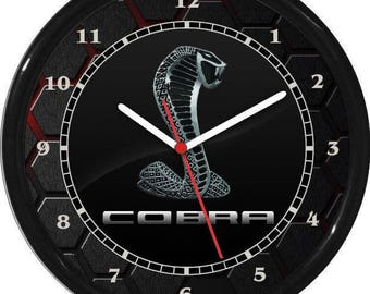 Cobra Wall Clock Garage Work Shop Gift Father's Day Man Cave Rec Room