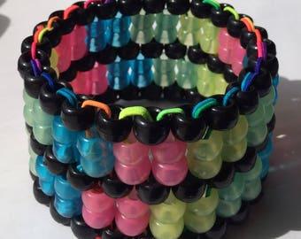 Glow in the  Dark Kandi Cuff Pastel Goth Bracelet