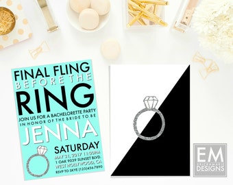 Bachelorette Party Invitation | Final Fling Before The Ring