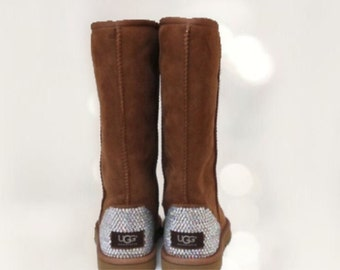 UGG Classic Tall Swarovski Bling Boot - Chestnuut