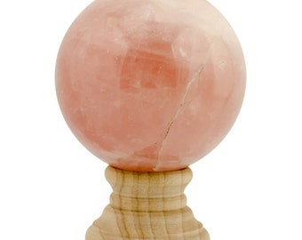 Rose Polished Stone Sphere Collectible- SKU # se53-box4