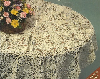 Favorite Crocheted Tablecloths Crochet doily pattern Tablecloth pattern Pdf file
