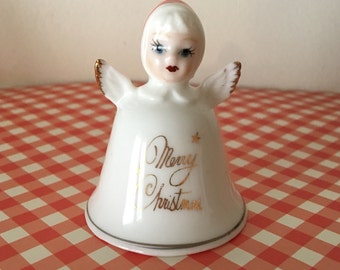 Merry Christmas angel bell Treasure Masters fine bone china