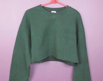Reworked Vintage Cropped Sweatshirt