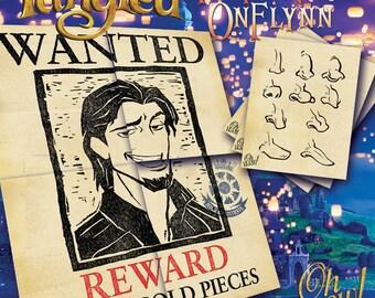 Rapunzel Theme Pin The Nose on Flynn