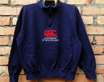 Rare!!! Canterbury New Zealand Sweatshirt Pullover Zip Medium Size