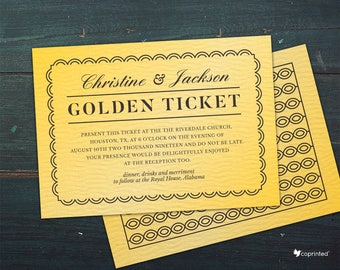 Golden Ticket Etsy