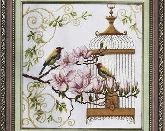 Cross Stitch Kit Singing of birds