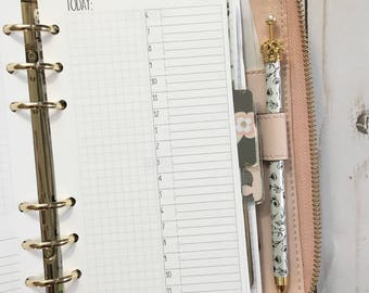 DAILY + Grid Only Personal Size Planner Inserts [40 DAYS]