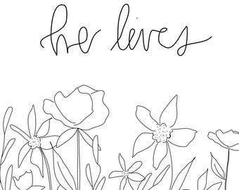 He lives easter print download