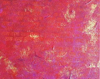 """Original Abstract Painting Acrylic on Canvas, Size 8"""" x 8"""", Title: Rama 7"""