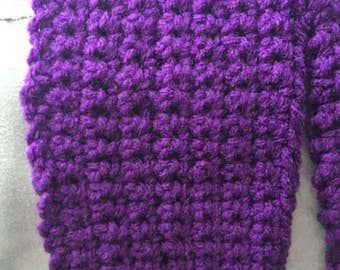 Crochet Purple Women's Scarf