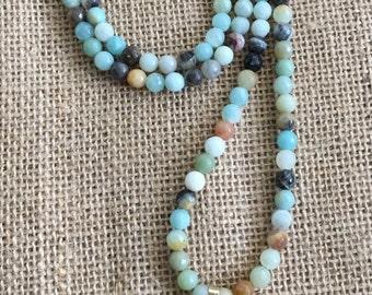Orange Arrowhead Gemstone Necklace