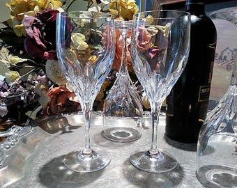 Vintage Elegant Gorham Crystal Goblet, Gorham Crystal Water Goblet, Gorham Diamond Pattern, 1989, Sold per Stem, 5 Available