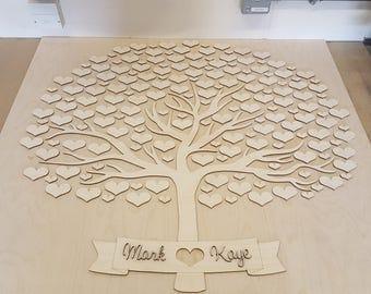 Wedding guestbook love heart tree