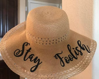 Floopy hat, pool hat, sun hat, summer hat, beach hat