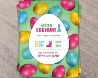 Easter Egg Hunt Invite - Easter Egg Hunt Flyer- Easter - Easter Invite - Easter Flyer - Easter Eggs - DIGITAL