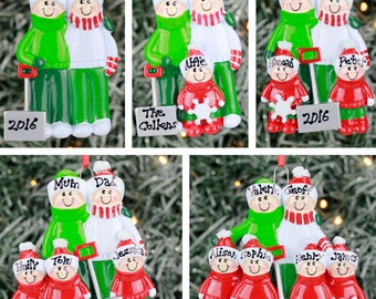 Personalised Christmas Tree Decoration - Snow Shovel Family