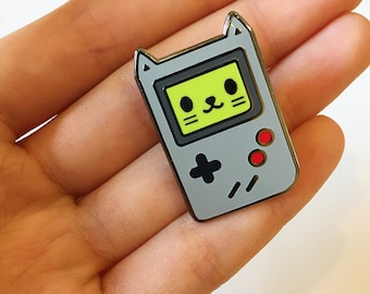 Game Cat Hard Enamel Pin, Video Game Pin - Meow Pins