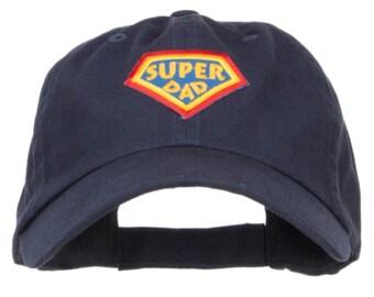 Super Dad Family Patched Low Cotton Cap