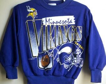 Vintage Minnesota Vikings Kids Sweatshirt