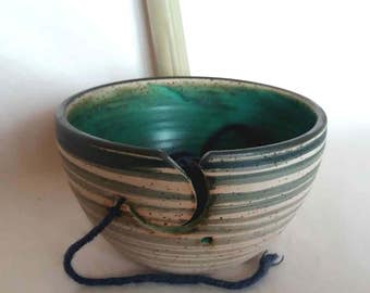 Yarn Bowl / Caribbean / hand-made by the ceramist