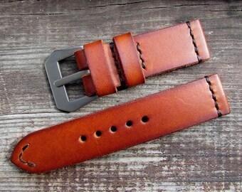 Custom Panerai watch strap Difues Leather