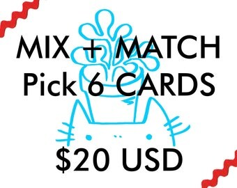 Greeting Cards MIX + MATCH (6 Cards)