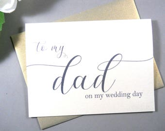 SHIMMER Card, To My DAD on my Wedding Day Card, To My Father Card, Father of the Bride Card, Father of the Groom Card, To My Dad Card