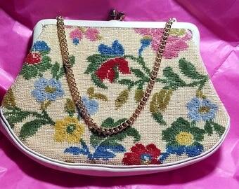 tapestry floral purse ,victorian handbag ,costume accessories,(4)