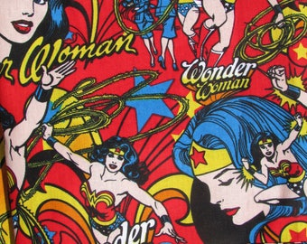 "NEW!!!   Pillowcase Made With ""NEWER""Wonder Woman Fabric"