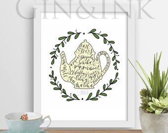 Tea Love - Printable